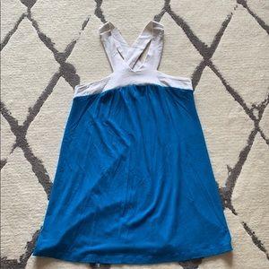Lily White color block mini dress